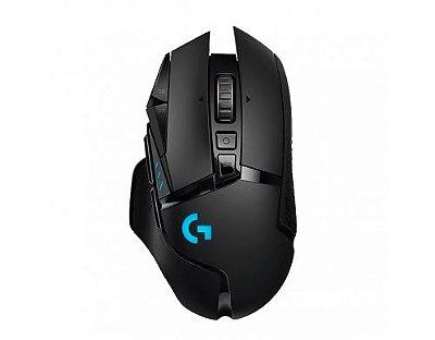 Mouse Gamer sem Fio Logitech G502 Lightspeed Hero 16K RGB Lightsync 16000 Dpi - Preto