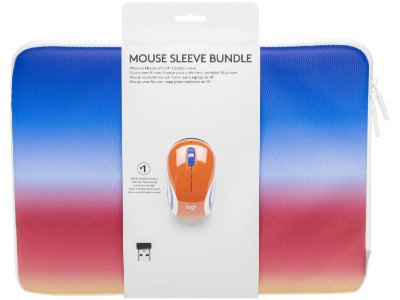 "Combo Mini Mouse sem Fio Logitech M187 e Capa para Notebook até 14"" - Coral"