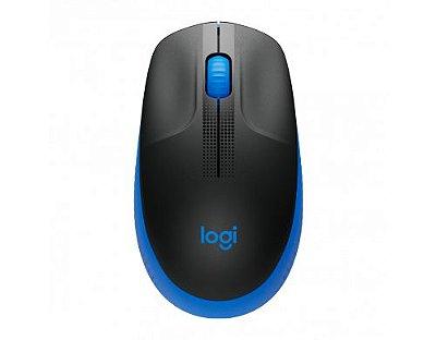 Mouse sem Fio Logitech M190 1000 dpi - Azul