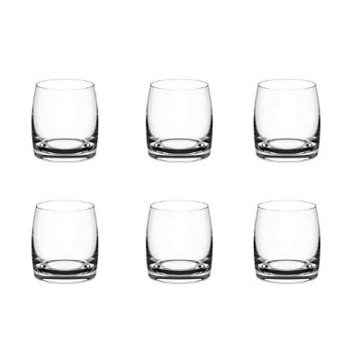 Conjunto de 6 Copos para Whisky Haus Concept Light 8,6x8,2cm 290ml - Incolor