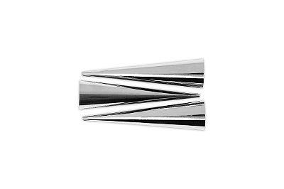 Conjunto de Bico para Confeitar 3 Peças Brinox Glacê 12cm - Inox