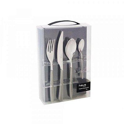 Faqueiro Haus Concept Silver 24 Peças - Cinza
