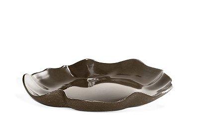 Travessa Haus Concept Lotus 36x34,2x5,5cm - Tabaco