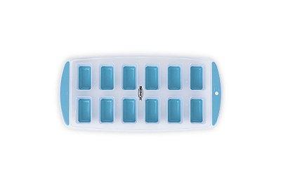 Forma para Gelo Retangular - Descomplica 29,8 x 11,7 x 2,8 cm - Azul - Brinox