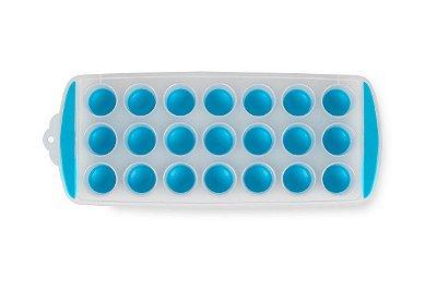 Forma de Gelo Redonda Brinox Descomplica 29,8x11,7x2,7cm - Azul