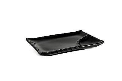 Travessa de Sushi Haus Concept Oriente 20,3X13X2,8cm - Preto