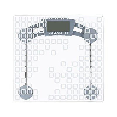 Balança Digital em Vidro Temperado Capacidade até 180kg Incolor - LEVVE BL04 - Agratto