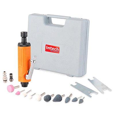 "Kit Mini Retífica Pneumática 22000 rpm - 1/4"" PN500 - Intech Machine"