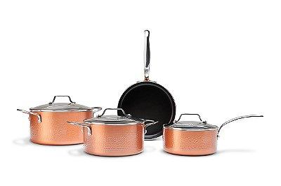 Conjunto de Panelas Brinox Ceramic Life Copper 4 Peças - Cobre