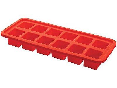Forma de Gelo Hercules de Silicone com 12 Cavidades SLC140VM  - Vermelho