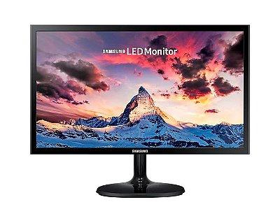 """Monitor Samsung 22"""" LS22F350FHLMZD FHD HDMI VGA Série CF350 - Preto"""