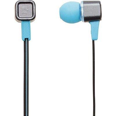 Fone de Ouvido MaxPrint com Microfone 609998 - Cinza e Azul