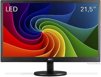 """Monitor AOC 21.5"""" Widescreen Full HD E2270SWN - Preto"""