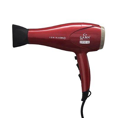 Secador de Cabelos Gama 2200W Italy Lumina Íon  - Vermelho