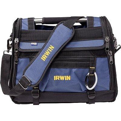"""Mala Irwin Tool Center 18"""" para Ferramentas IW14080 - Preto e Azul"""