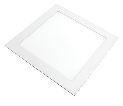 Painel de LED Lorenzetti Quadrado de Embutir 24w 6500K Bivolt - Branco