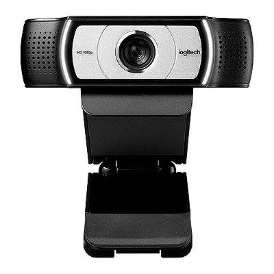 Webcam Logitech C930E Full HD 1080P com Microfone  - Preta