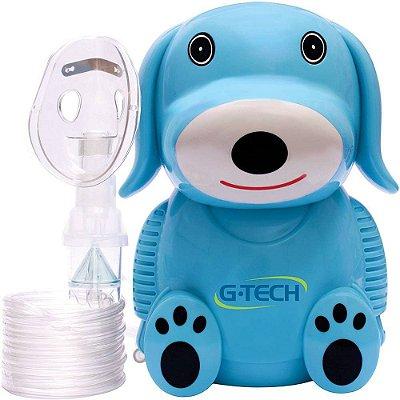 Nebulizador e Inalador G-tech Nebdog Azul - Bivolt