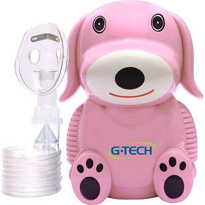Nebulizador e Inalador G-tech Nebdog Rosa - Bivolt
