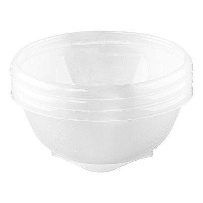 Conjunto de 3 Potes Sanremo de Sobremesa de Plástico - Incolor