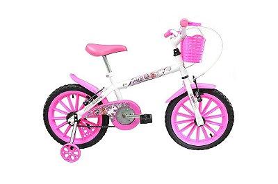 Bicicleta Aro 16 Track & Bikes Pinky - Branco e Rosa