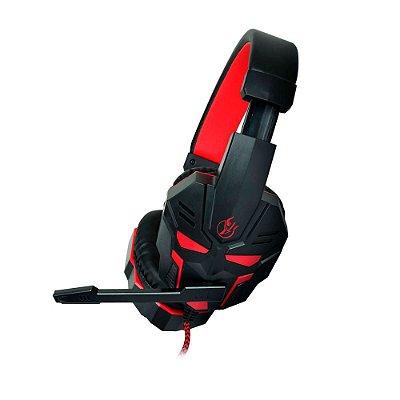 Headset Gamer Kross Spectrum KE-HS096 - Vermelho e Preto