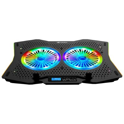 "Base para Notebook Gamer C3Tech até 17,3"" NBC-400BK 2 Coolers Led RGB - Preto"