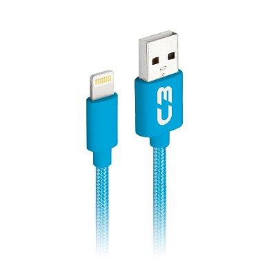 Cabo USB-Lightning C3Plus CB-L11BL 1Metro - Azul