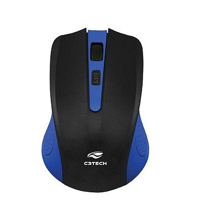 Mouse sem Fio C3Tech M-W20BL 1000Dpi - Azul