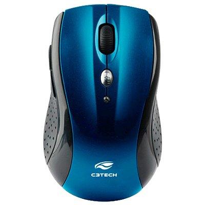 Mouse sem Fio C3Tech M-W012BL V2 Nano 1600Dpi - Azul