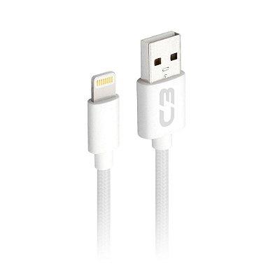 Cabo USB-Lightning C3Plus CB-L21WHX 2 Metros - Branco