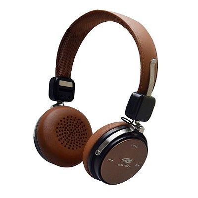 Fone de Ouvido Headphone C3Tech PH-B600BW Bluetooth 4.2 - Marrom