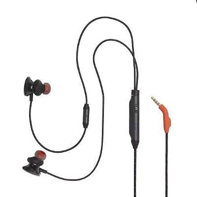 Fone de Ouvido Intra-Auricular JBL Quantum 50 com Microfone - Preto