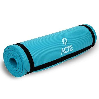 Tapete para Exercícios e Yoga Acte Sports Comfort T54 180 cm - Azul