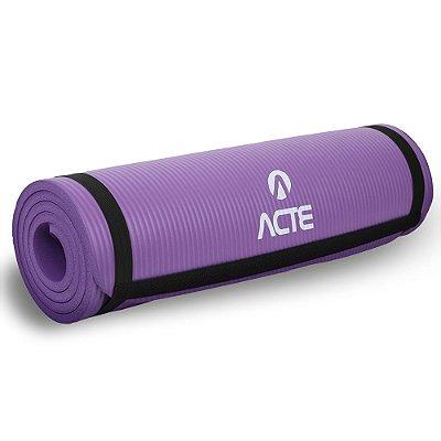 Tapete para Exercícios e Yoga Acte Sports Comfort T54-RX 180 cm - Roxo