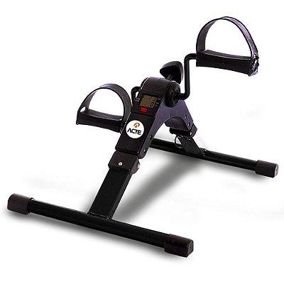 Mini Bike Compact para Exercícios com Monitor Acte Sports E14 - Preta