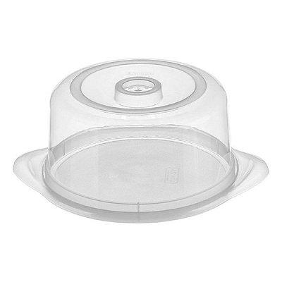 Porta Bolo de Plástico Sanremo 24x13cm - Branco
