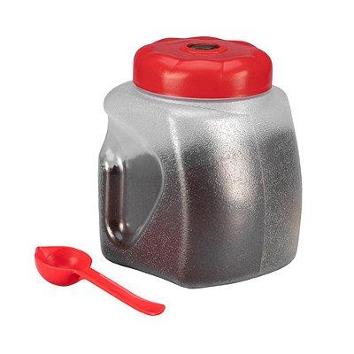Porta Café de Plástico Sanremo 2,2L com Colher Dosadora - Vermelho
