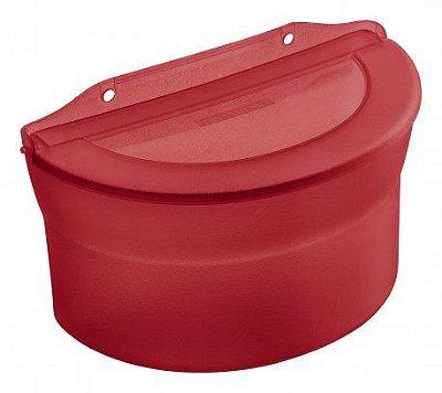Saleiro de Plástico Sanremo Casar 885ml Parede ou Bancada - Vermelho