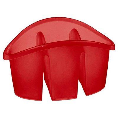 Escorredor de Talher de Plástico com Divisória Sanremo Casar - Vermelho