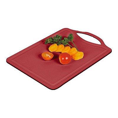 Tábua de Corte de Plástico Sanremo Casar 27,0x18,0x0,5cm - Vermelho