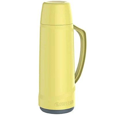 Garrafa Térmica Soprano 1 Litro Cristal - Amarela