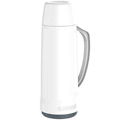 Garrafa Térmica Soprano 1 Litro Cristal - Branco