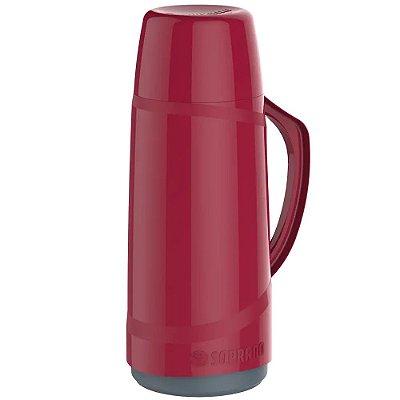 Garrafa Térmica Soprano 650ml Cristal - Vermelha