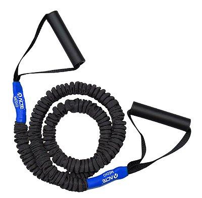 Extensor Elástico Pro Médio Acte Sports T288-M para Braços e Pernas - Azul