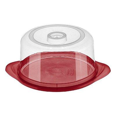 Porta Queijo de Plástico Sanremo Casar 20cm - Vermelho