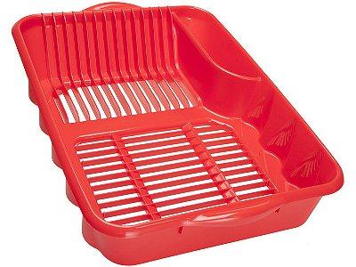 Escorredor de Louças de Plástico Sanremo Casar - Vermelho