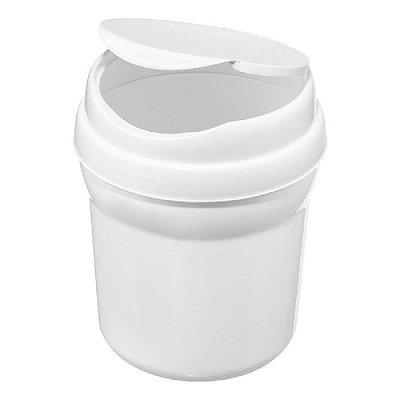 Lixeira Pia de Plástico Sanremo Casar 2.4L - Branco