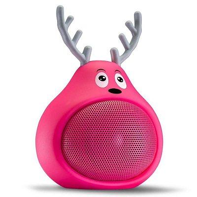 Caixa de Som Bluetooth Tectoy Fani Sound Toons Resistente a Água - Rosa