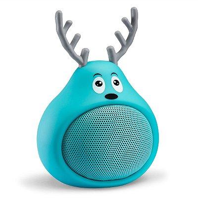 Caixa de Som Bluetooth Tectoy Fani Sound Toons Resistente a Água - Azul